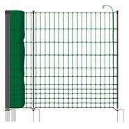 Stängselnät höns, fjäderfä 50m x 112cm, 20 stolpar, 2 spetsar, elnät, VOSS.farming