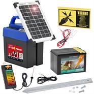"""Stängselaggregat """"Extra Power 9V SOLCELL"""" 9 Volt inkl. batteri + stängselprovare VOSS.farming"""