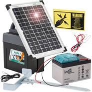 "Solcellspaket ""Kappa 7""- solcellspanel 12W, elaggregat, laddningsbart batteri 12V, VOSS.farming"