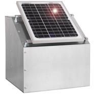 Solcellspaket till elstängsel: 12W solcellspanel inkl. box + tillbehör VOSS.farming