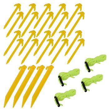 Markpinnar och spännlinor i set, premium säkringskit, gul, VOSS.farming