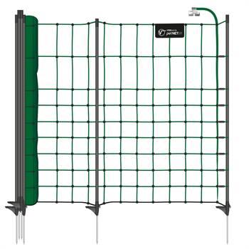 Valpstängsel, hundstängsel petNET+  10m x  65cm, 9 stolpar, grön, VOSS.PET