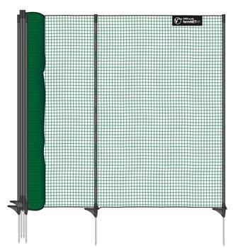 Stängselnät classic 15m x 90cm, 9 stolpar, grön, utan el, VOSS.farming