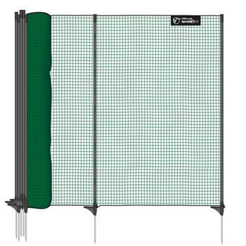 Stängselnät classic 25m x 90cm, 15 stolpar, grön, utan el, VOSS.farming