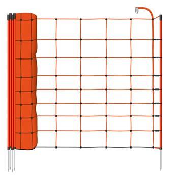 Elstängselnät BASIC, fårnät 50m x 90cm, orange, VOSS.farming