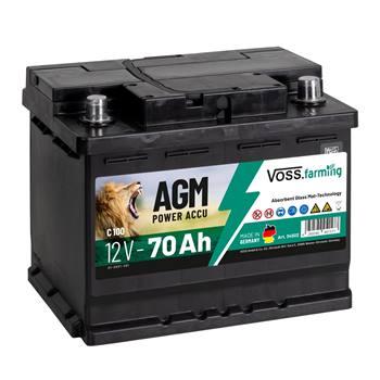 """AGM-batteri """"12V AGM Akku 70Ah"""", till stängselaggregat, VOSS.farming"""