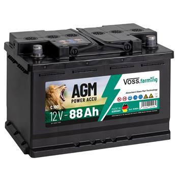 """AGM-batteri """"12V AGM Akku 88Ah"""", till stängselaggregat, VOSS.farming"""