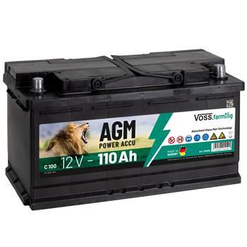 """AGM-batteri """"12V AGM Akku 110Ah"""", till stängselaggregat, VOSS.farming"""