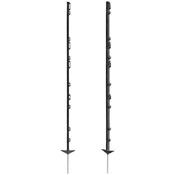 42183-1-plaststolpar-20-pack-kraftig-plaststolpe-svart-glasfiberförstärkt-stängselstolpe-136cm-ovanf