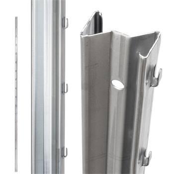 Stålstolpe Z-profil stolp till viltstängsel, vridknutsnät, 1,8 m