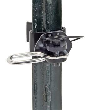 Grindankare 2-pack, grindisolator till T-stolpe inkl. ögla i rostfritt stål (1), VOSS.farming