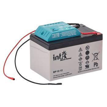 Batteri 12 volt 12 Ah, laddningsbart  AGM batteri med laddregulator, VOSS.farming