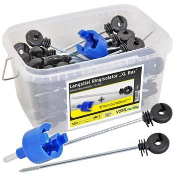 """Ringisolator lång 50st.,  """"XL Box"""" distansisolatorer + monteringsnyckel + box, VOSS.farming"""