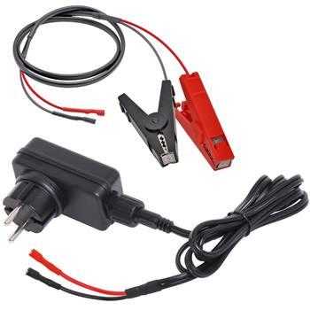 Nätadapter inkl. batteriklämmor 9V, 12V, 230V till stängselaggregat 9V/12V, Voss.farming