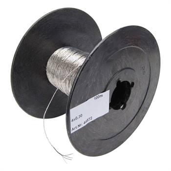 Eltråd av rostfritt stål, 100 m, 4x0,30 ledare