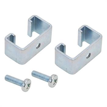2x adapterklämmor till fast stängselsystem