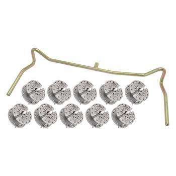 Trådspännare + bygel, för eltråd och elrep, 10st.-pack