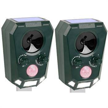 VOSS.sonic 2200 Djurskrämma ultraljud solcellsdrift, kattskrämma, viltskrämma 2-pack