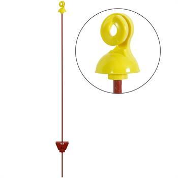 25x VOSS.farming elstängselstolpe 105 cm, rund, 7 mm, gul isolator