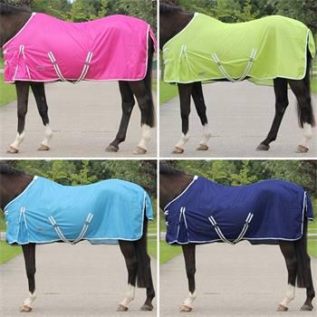 Flugtäcke till häst, extra finmaskigt tyg, hästtäcke i snygga färger, QHP