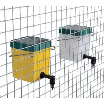 Vattenautomat för bur, 0,5 liter, vit