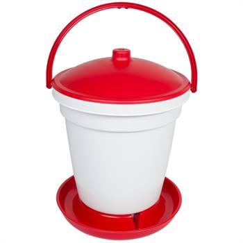 Vattenautomat för höns, fjäderfä, 18 liter hink