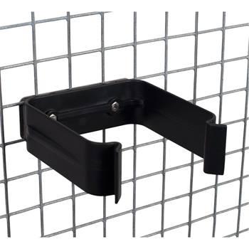 Fäste för vattenautomat, plast, rostfritt stål för montering på ståltrådsnät, bur