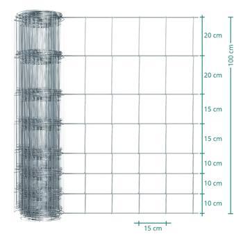 Vridknutsnät Premium Plus 50m x 100cm, viltstängsel, 100/08/15, VOSS.farming
