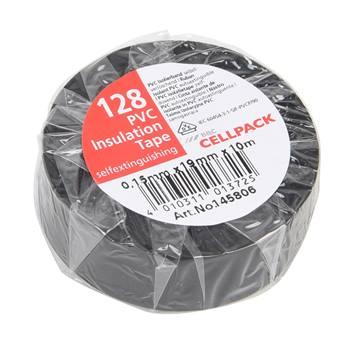 Isoleringstejp 10 m x 19 mm, PVC, svart, VOSS.eisfrei