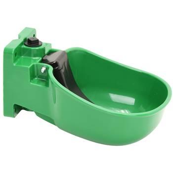 Vattenkopp K50 med tunga för nötkreatur och häst, slitstark plast, grön