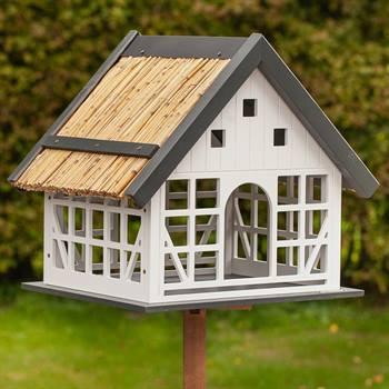 "Fågelhus ""Lindau""- snygg fågelvilla i lantlig stil, inkl.stativ, VOSS.garden"