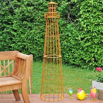 """Trädgårdspydnad Gabion """"Fyr"""" 180cm, rost design, Växtstöd, Spaljé, VOSS.garden"""