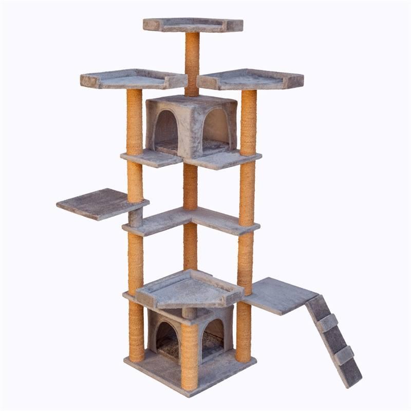 26613-2-9-katträd-klösträd-karate-cat-ljusgrå-klösmöbel-VOSS.PET.jpg