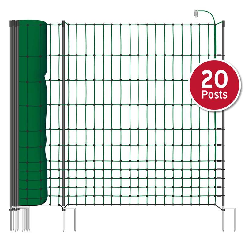 27244-50m-poultry-netting-112cm-2-spikes-green-incl-20-posts-2-spikes-electrifiable-2.jpg