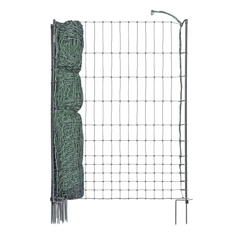 27244-50m-poultry-netting-112cm-2-spikes-green-incl-20-posts-2-spikes-electrifiable-3.jpg