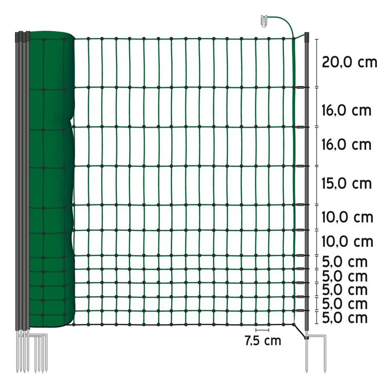 27244-50m-poultry-netting-112cm-2-spikes-green-incl-20-posts-2-spikes-electrifiable-6.jpg