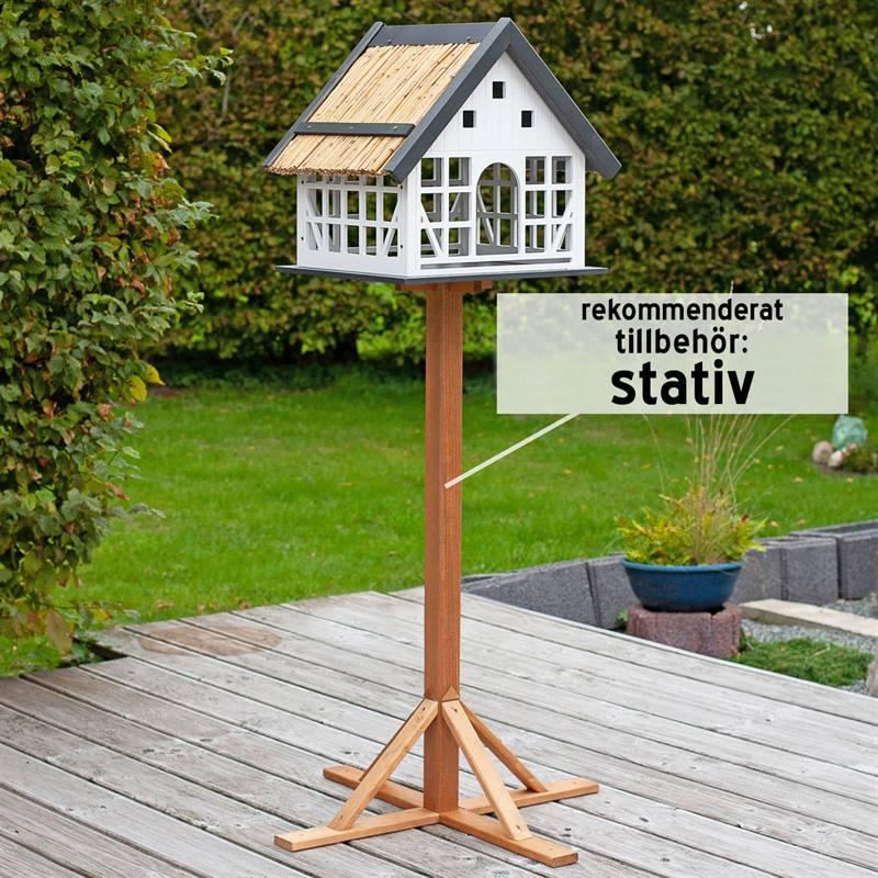 930362-12- fågelbord-fågelmatare-lantlig-stil-Lindau-med rekommenderat-tillbehör-fågelbord-påstolpe-