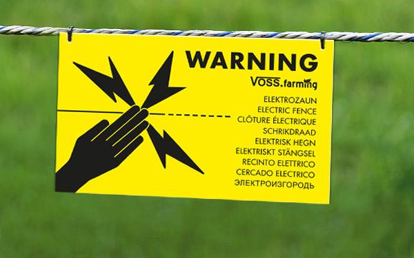 Varningsskylt.