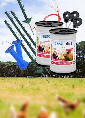 Prisvärda hönsnät och hönsstängsel, även kompletta elstängselpaket för höns
