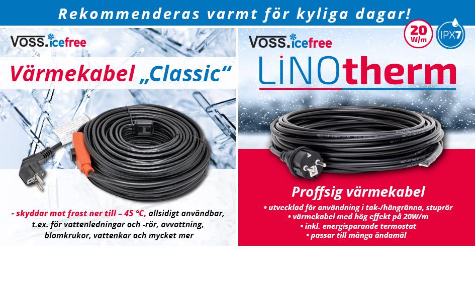 Värmekabel classic och LINOtherm.